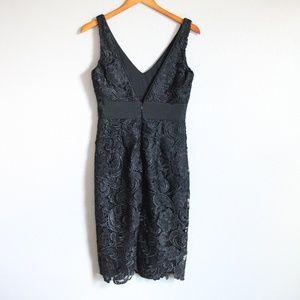 Adrianna Papell Dresses - Adrianna Papell Black V Neck Lace Dress 4
